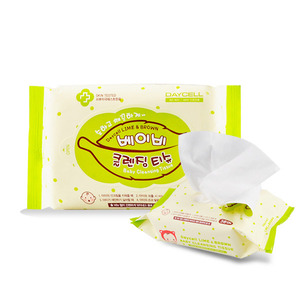 [DAYCELL] Lime&Brown baby Cleansing Tissue 30 sheets - Special Care Professional Cosmetics, DAYCELL!